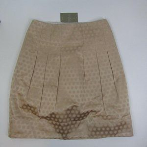 Shimmery Anthropologie Pleated Skirt Tan Size 6